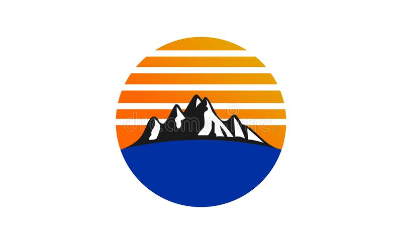 Mountain logo design vector illustration
