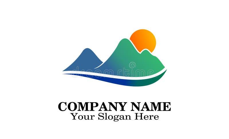 Mountains logo design stock illustration