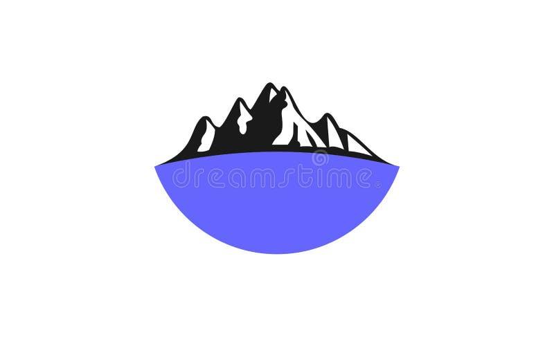 Mountain logo design royalty free illustration