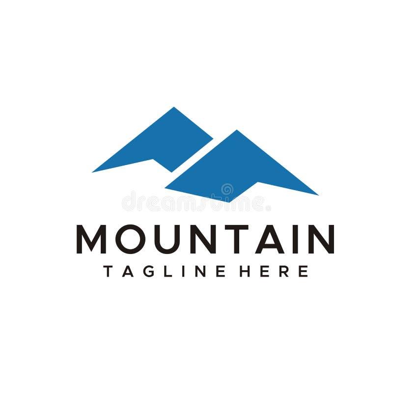 Mountain logo design vector simple style royalty free illustration