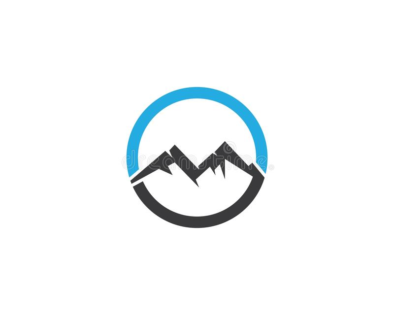 Mountain logo template royalty free illustration
