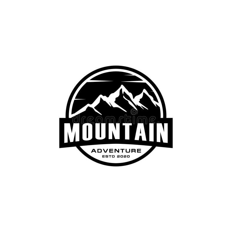 Mountain logo vector design emblem. Concept design template vector illustration