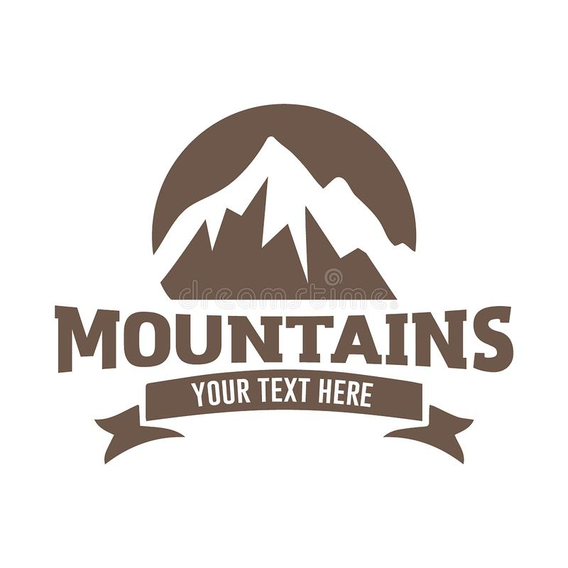 Mountain logo vector illustration concept, suitable for financial, accounting, business, travel and other companies. Mountain logo vector illustration concept royalty free illustration