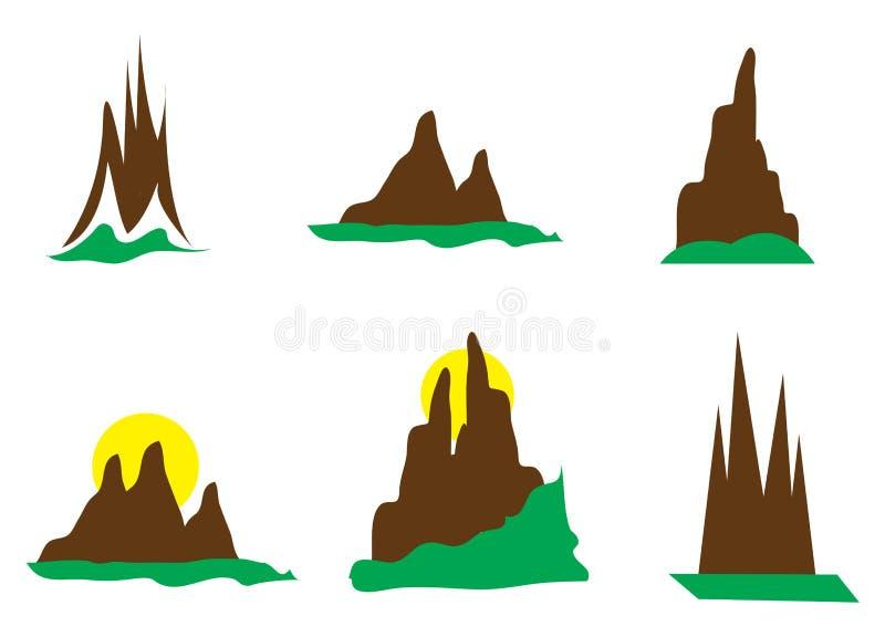Mountain Logos stock illustration