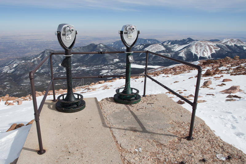 Mountain lookout royalty free stock images