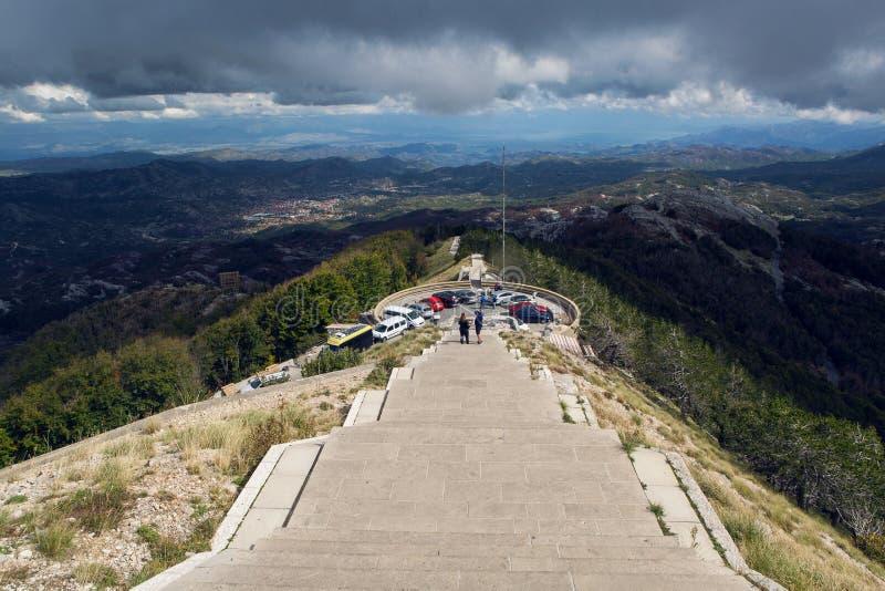 Mountain Lovcen in Montenegro stock photography