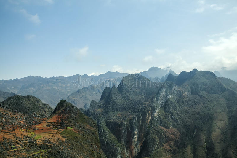 Mountain at Ma Pi Leng. In Van stone. Van Stone Plateau (natural or painted Van) is a rocky plateau spread over four districts of Quan Ba, Yen Minh, Van, Meo stock photos