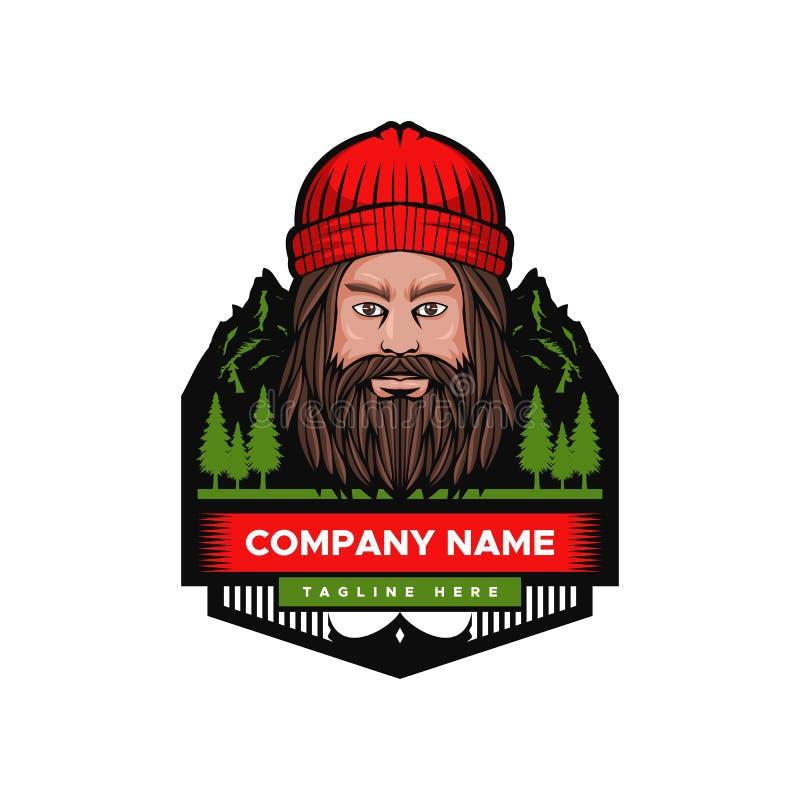 Mountain Man Vector illustration badge vector illustration