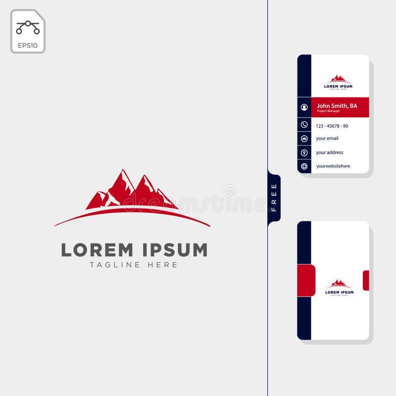 Mountain map navigator logo template free business card design. Template royalty free illustration