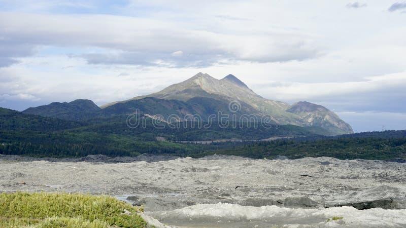 Mountain in Matanuska, Alaska in cloudy day. A beautiful mountain in Alaska in cloudy day stock photos