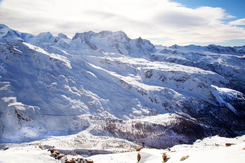 Mountain Matterhorn Landscape In Switzerland Royalty Free Stock Photos