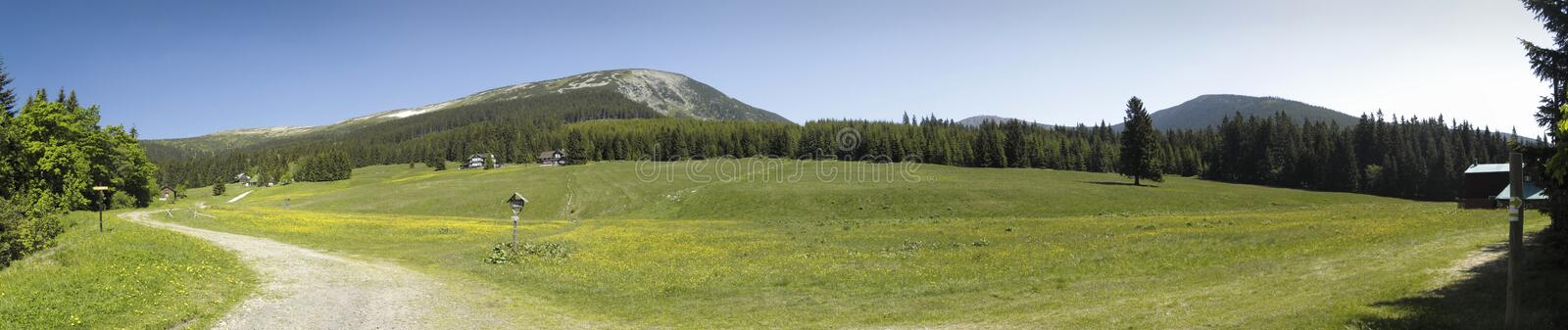 Mountain meadow in Modry dul royalty free stock photo