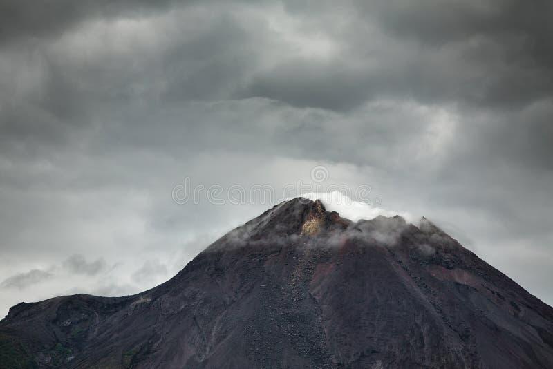 Mountain Merapi volcano, Java, Indonesia royalty free stock images