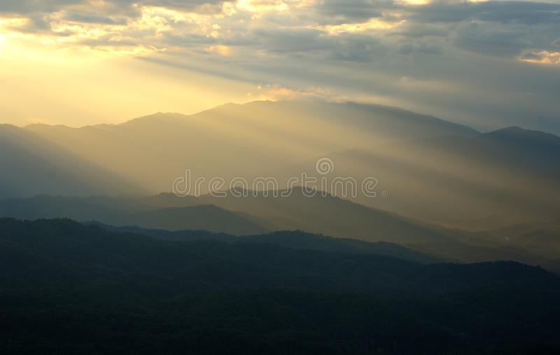Mountain mist royalty free stock photos