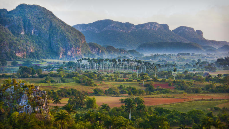 Mountain Mogote in Pinar del Rio, Vale de Vinales stock photography