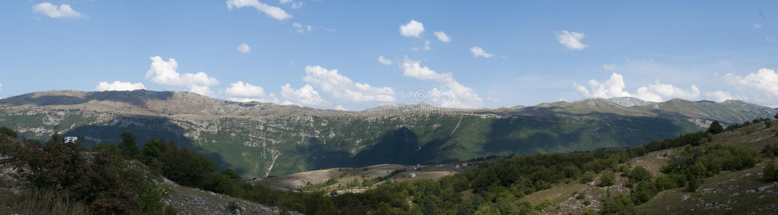 Mountain in Montenegro stock images