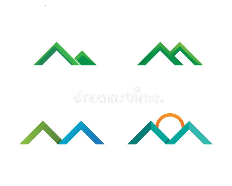 Mountain nature landscape  logo and symbols  icons template. Mountain nature landscape and logo and symbols  icons template royalty free illustration