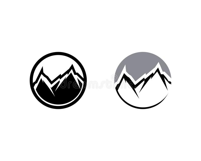 Mountain nature landscape  logo and symbols  icons template. Mountain nature landscape and logo and symbols  icons template vector illustration