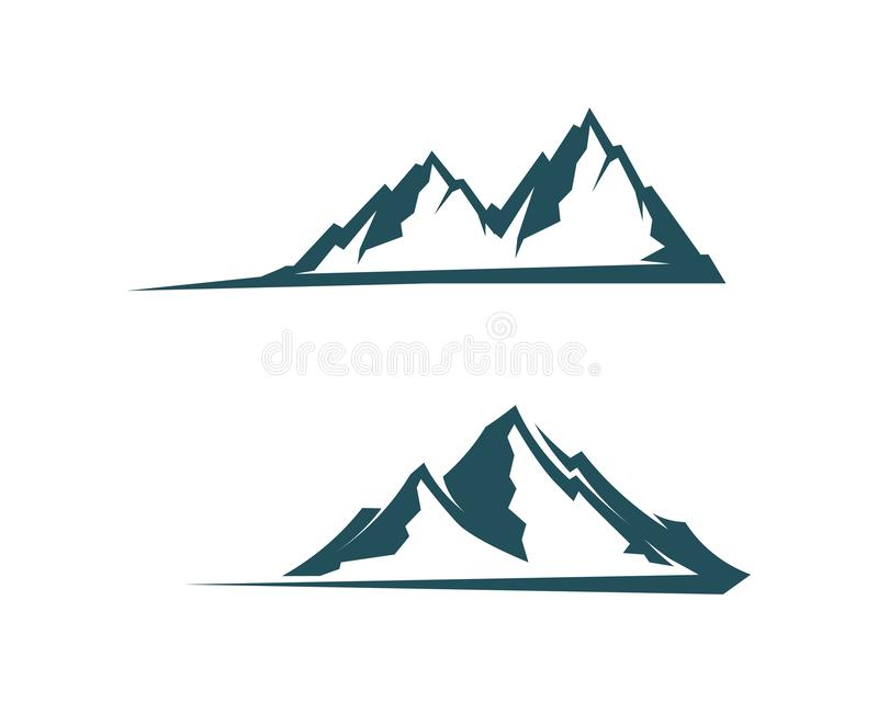 Mountain nature landscape  logo and symbols  icons template. Mountain nature landscape and logo and symbols  icons template stock illustration