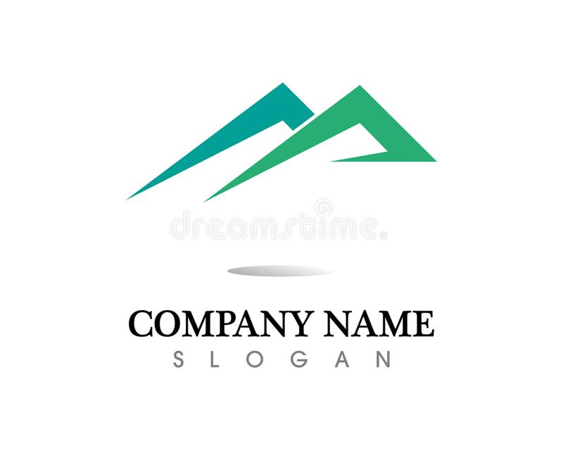 Mountain nature landscape logo and symbols icons template. Mountain nature and landscape logo and symbols icons template vector illustration