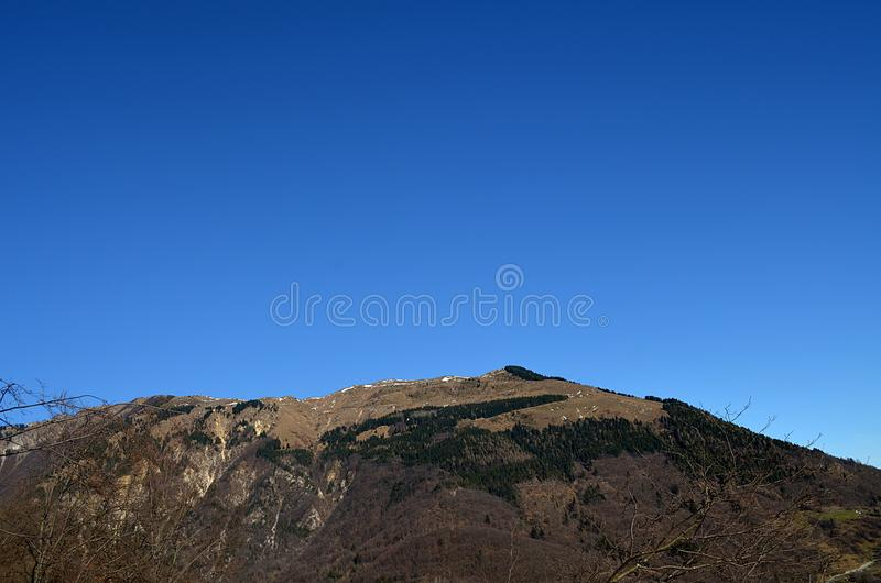 Mountain Novegno - Veneto, Italy royalty free stock images