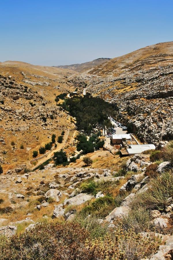 Mountain oasis. National park Ein Prat. Israel stock photos