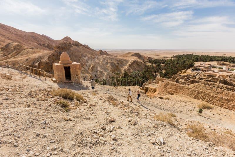 Download Mountain Oasis Chebika In Sahara Desert, Tunisia Stock Photo - Image of arabian, colour: 32288378