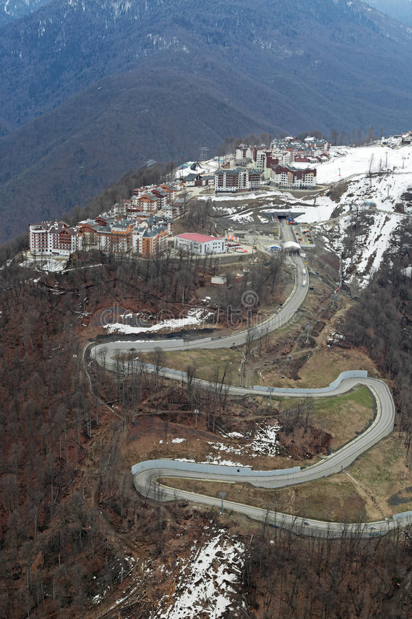 Download Mountain Olympic village editorial stock photo. Image of forest - 39640093