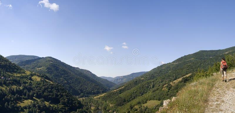Download Mountain panorama stock photo. Image of blue, panorama - 5754378