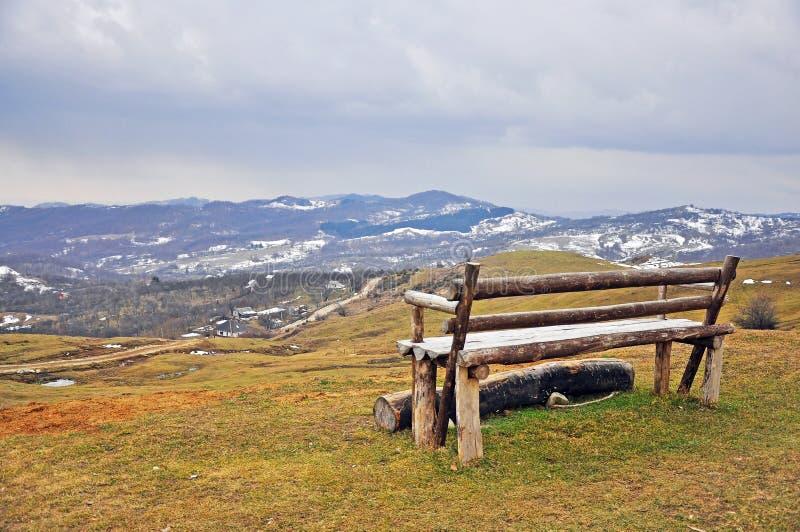 Mountain panorama place stock image