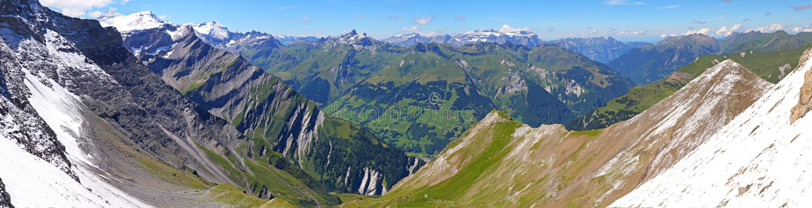Download Mountain Panorama From Segnas Pass, Stock Photo - Image: 16895266