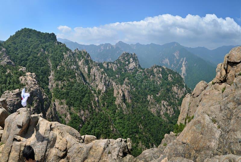 Mountain Panorama Of Seoraksan National Park Stock Photos