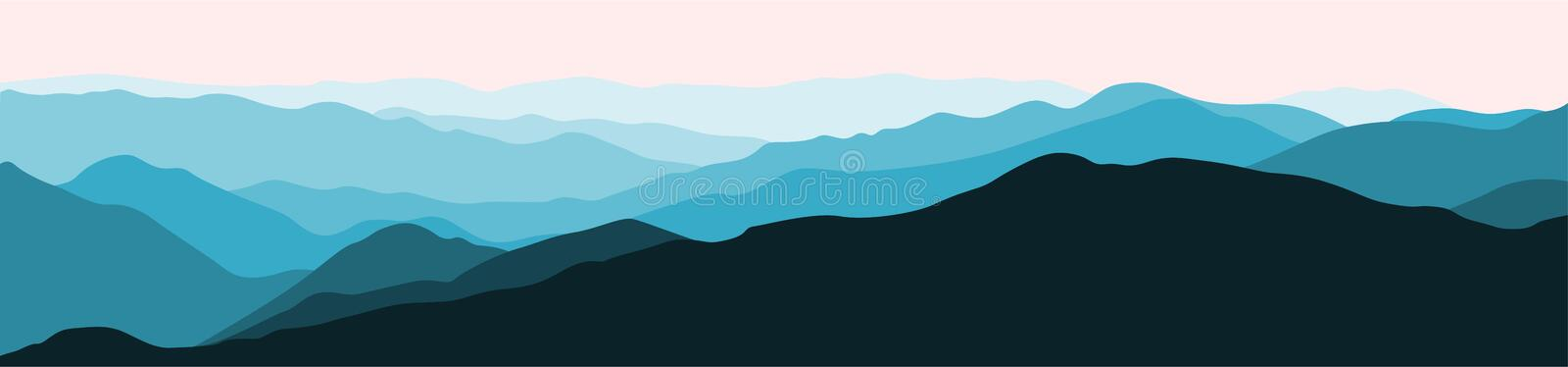 Mountain Panorama Vector vector illustration