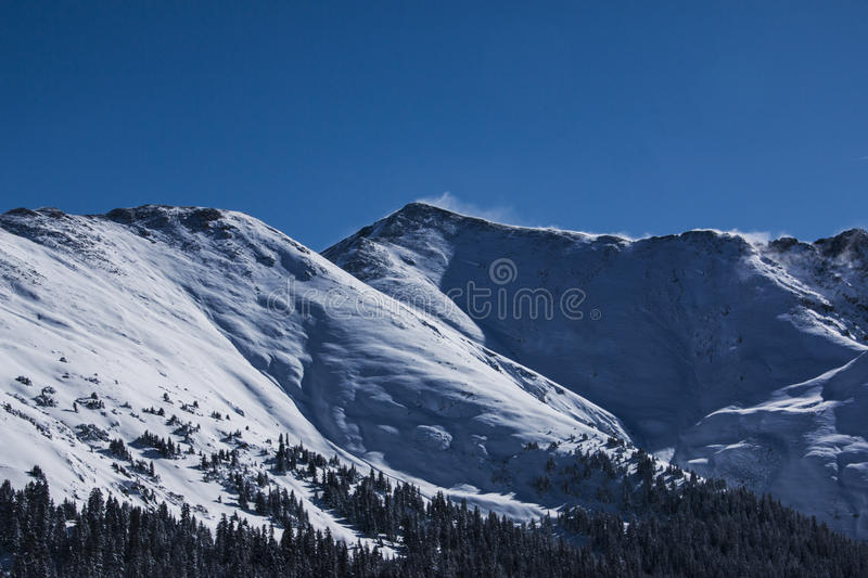 Mountain pass in Colorado. Loveland Pass is a high mountain pass in the western United States, at an elevation of 11,990 feet above sea level in the Rocky stock photos