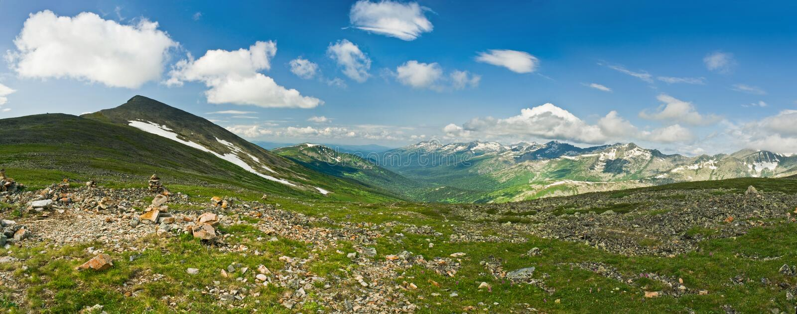 Mountain Pass In West Siberia Stock Image