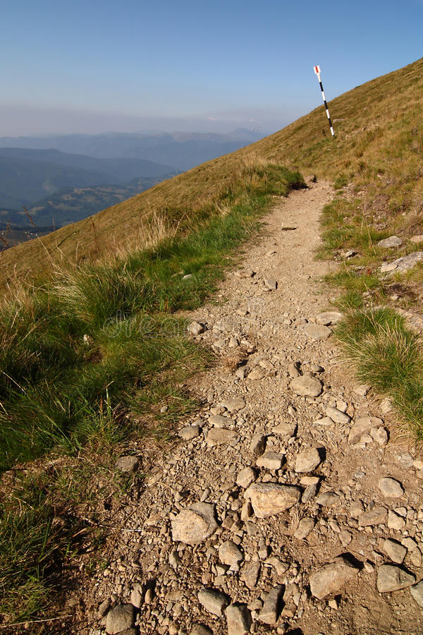 Mountain path stock photography