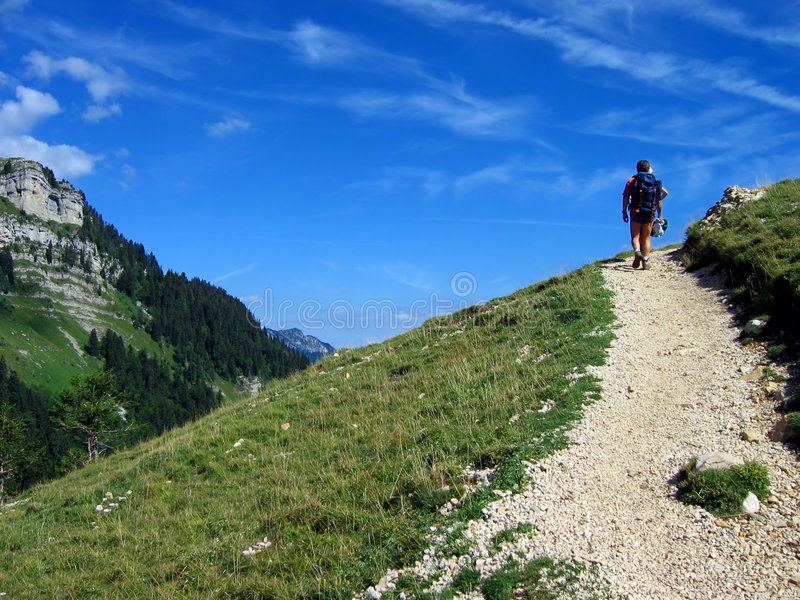 Download Mountain path stock image. Image of climber, hiker, trekker - 312683