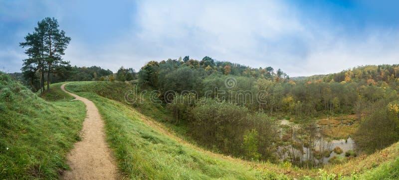 Mountain path panorama stock image