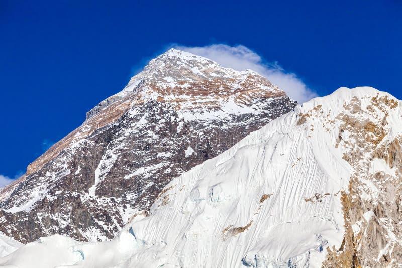 Mountain peak Everest. royalty free stock photography