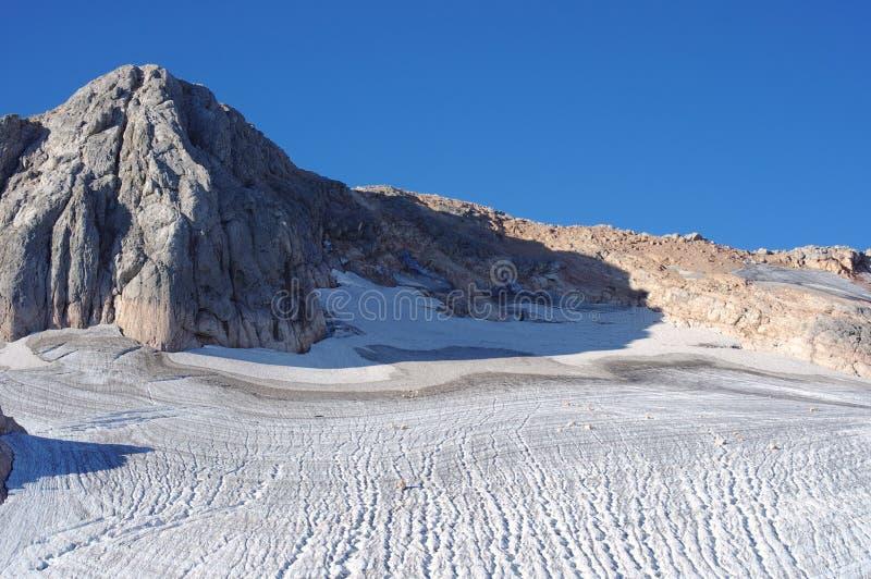 Mountain peak Fisht and glaciers