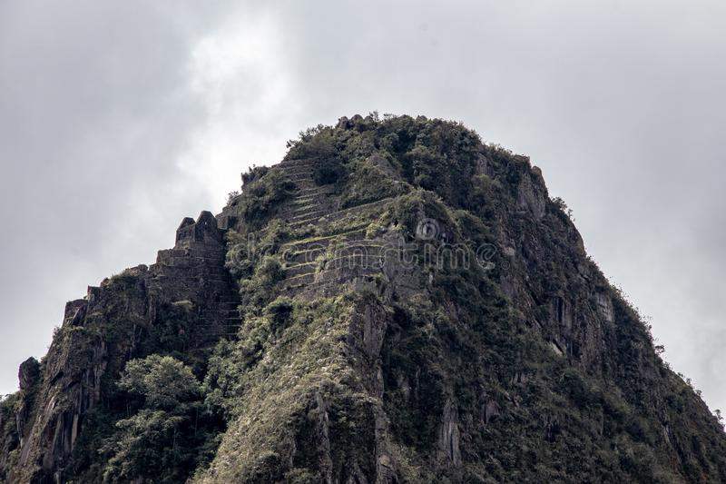 The Mountain Peak of Huayna Picchu stock photos