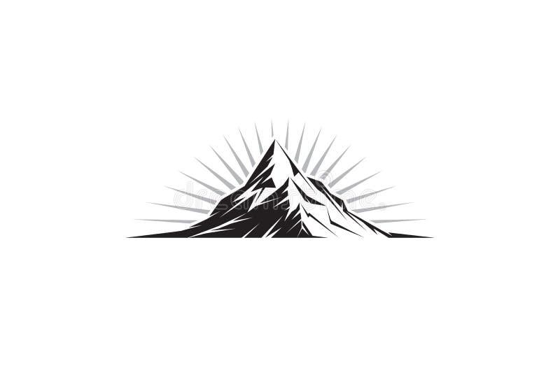 Mountain Peak. Illustration of a mountain peak silhouette