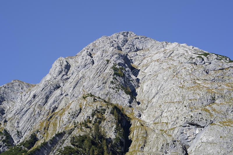 The mountain peak of Karwendel in Austria. Close to the mountain peak of the area Karwendel in Austria royalty free stock photography
