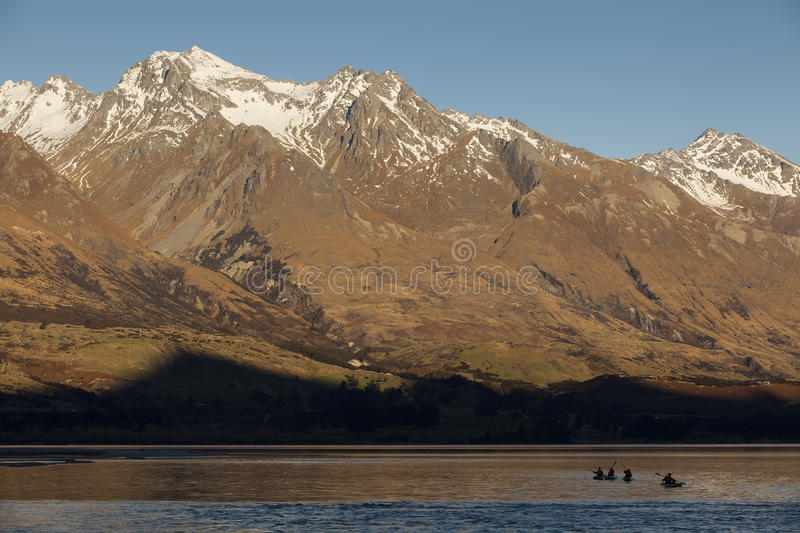 Mountain peak in New Zealand royalty free stock photography