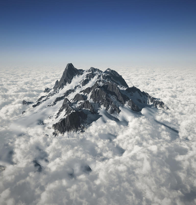 Mountain Peak Over The Clouds Royalty Free Stock Image