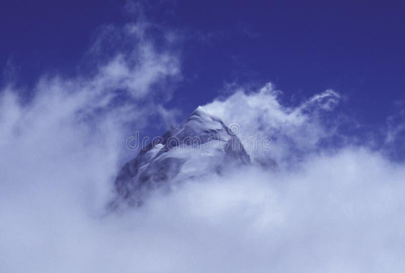 Mountain Peak Piz Roseg royalty free stock photo