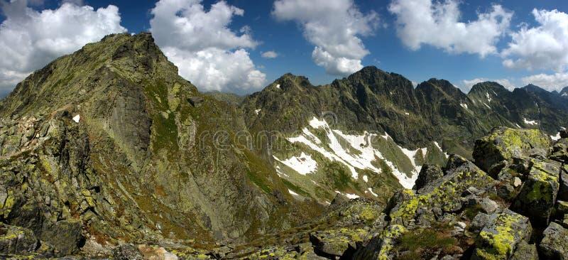 Mountain peak and ridge stock image