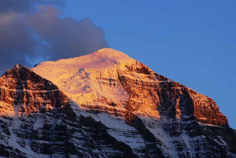 Download Mountain peak at sunset stock image. Image of rocky, landscape - 5539809