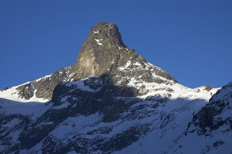 Download Mountain peak in winter stock photo. Image of rough, nature - 1694102