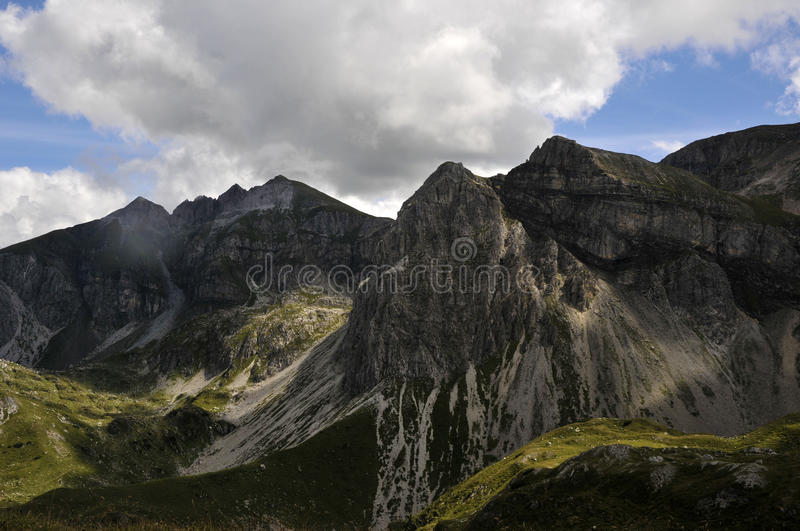 Mountain peaks stock photography